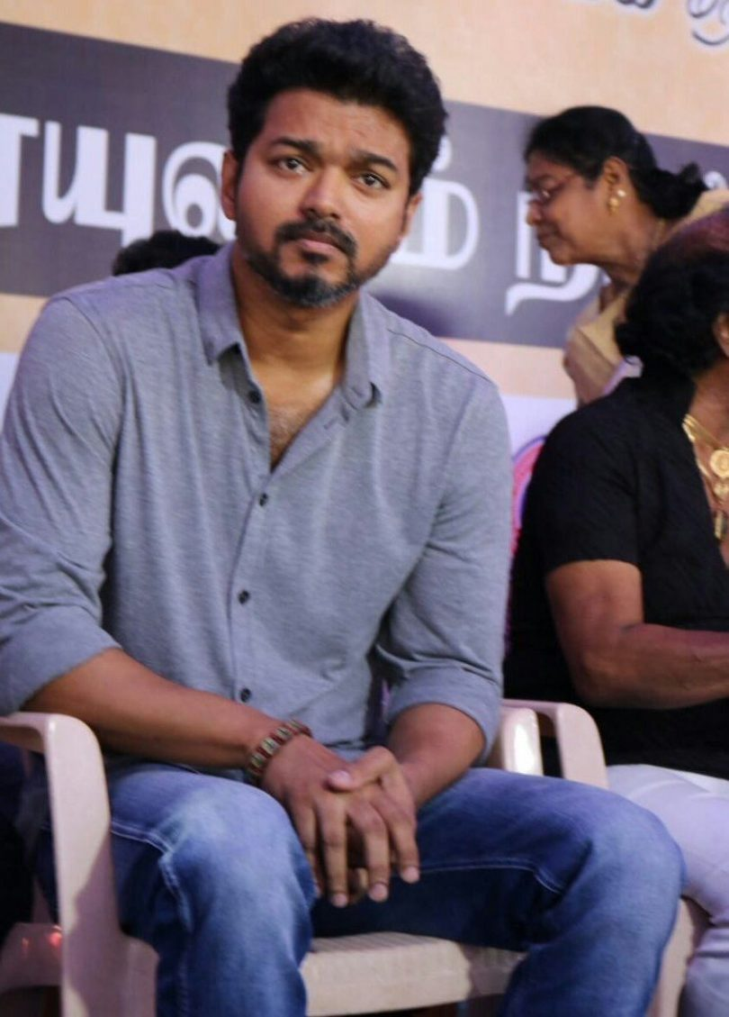 Thalapathy Vijay at Tamil industry's protest against Sterlite