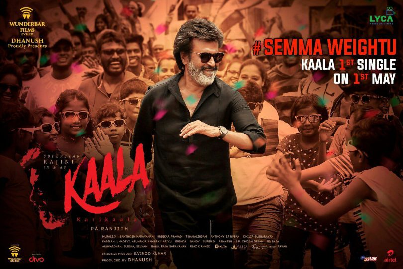 Kaala: First single of Rajinikanth starrer to be released tomorrow