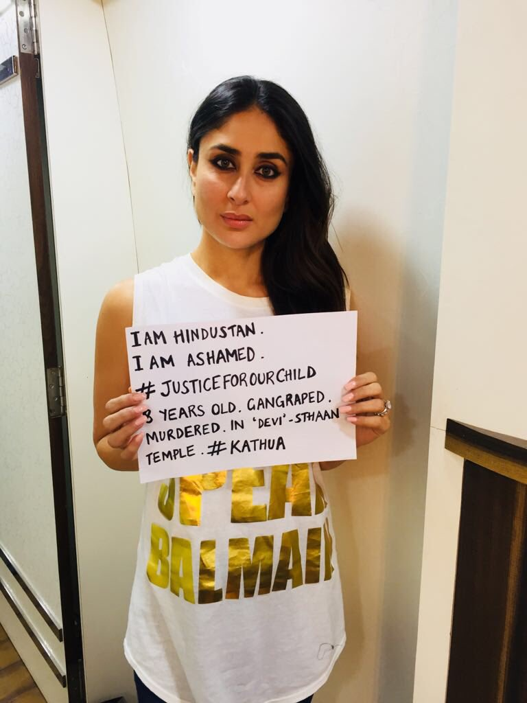 Kareena Kapoor condemns the act of rape happened in Unnao