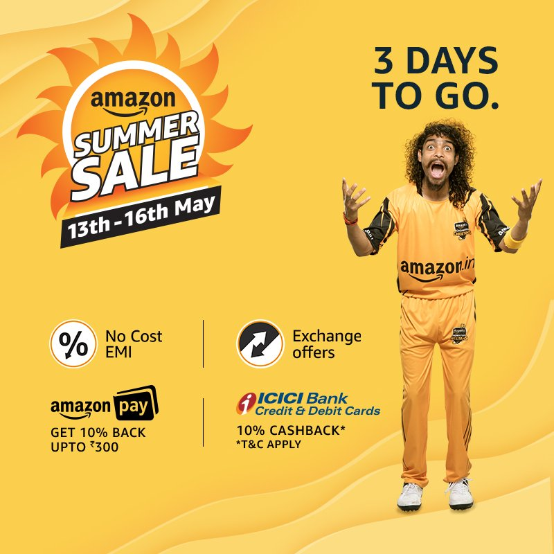 Amazon's Summer Sale to take on Flipkart's Big Shopping Days sale
