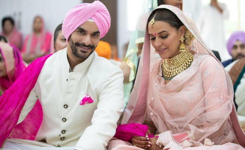 Bollywood Actress Neha Dhupia ties knot with Best Friend Angad Bedi