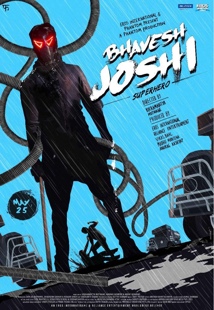 Bhavesh Joshi Superhero movie poster, trailer to be released tomorrow