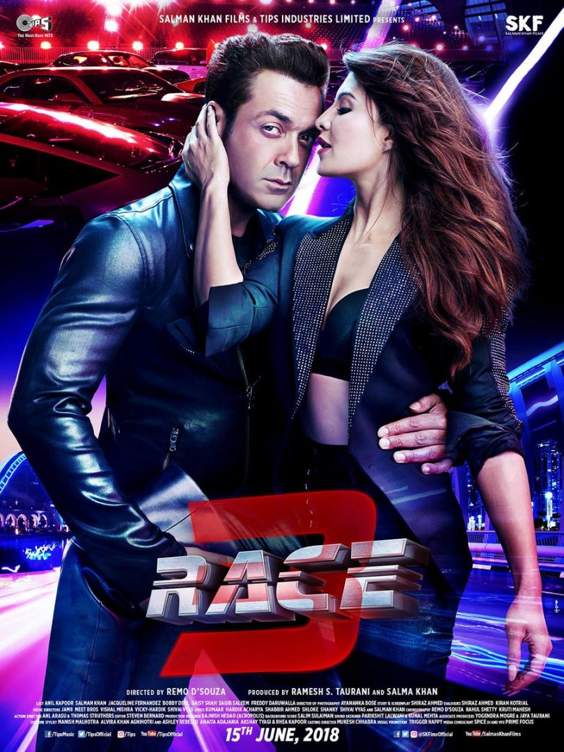 Race 3 movie, new poster featuring Bobby Deol and Jaqueline Fernandez released