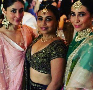 Kareena Kapoor, Rani Mukerjee and Karisma Kapoor at the wedding