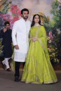 Ranbir Kapoor and Alia Bhatt at Sonam and Anand Ahuja wedding reception