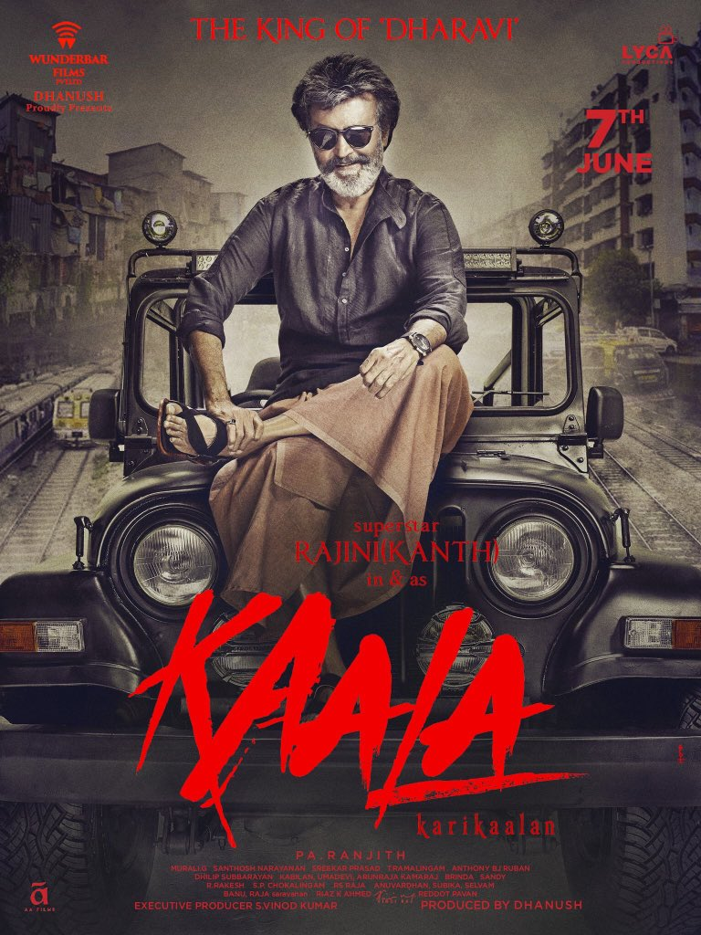 Rajinikanth's Kaala to release on June 7 2018, new poster released