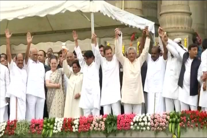 All the opposition parties leader come together, including Mayawati and Sonia Gandhi, showed their power during the swearing-in ceremony of Kumaraswamy.