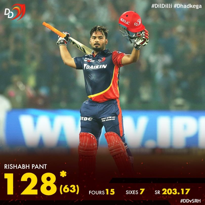 Rishabh Pant becomes second youngest player to score a century in IPL