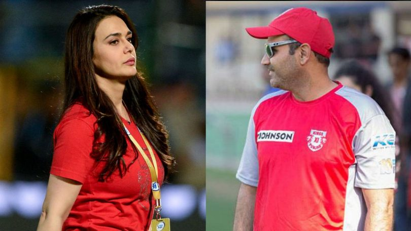 Kings XI Punjab co-owner Preity Zinta lashes out with Virender Sehwag over Ashwin's batting order