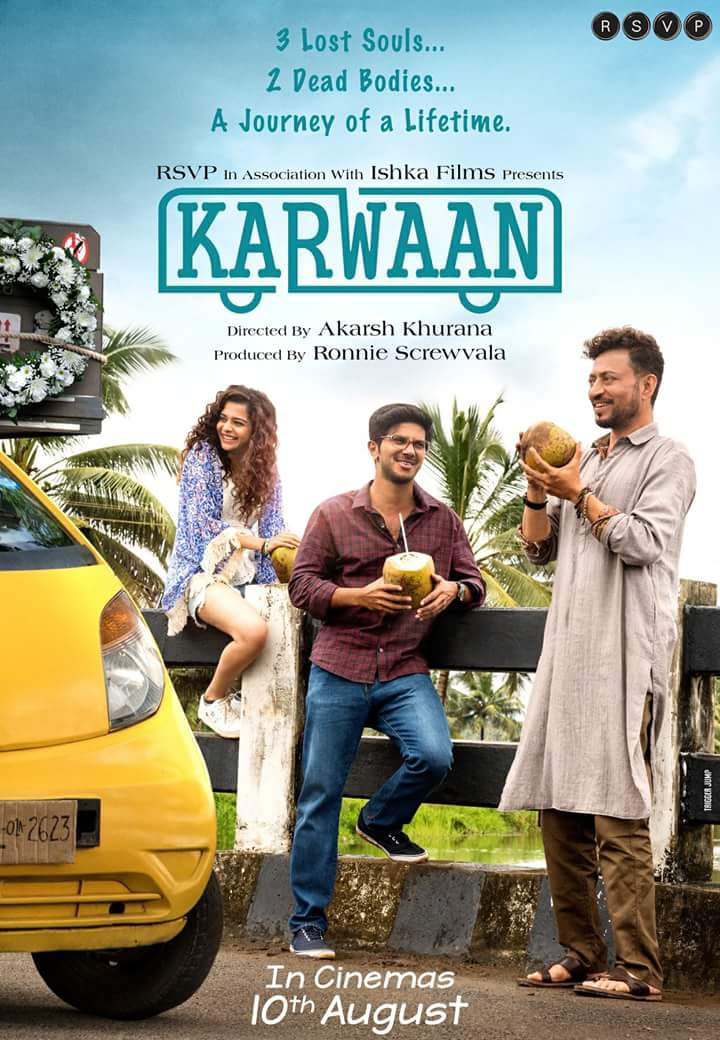 Dulquer Salman and Irrfan Khan starrer 'Karwaan' gets a poster and release date