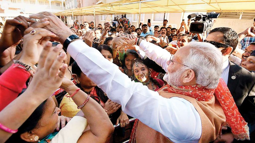 PM Narendra Modi during an election campaign