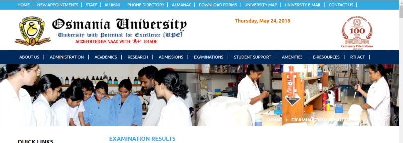 Osmania University results for BA/B.Com/B.Sc to be announced soon today
