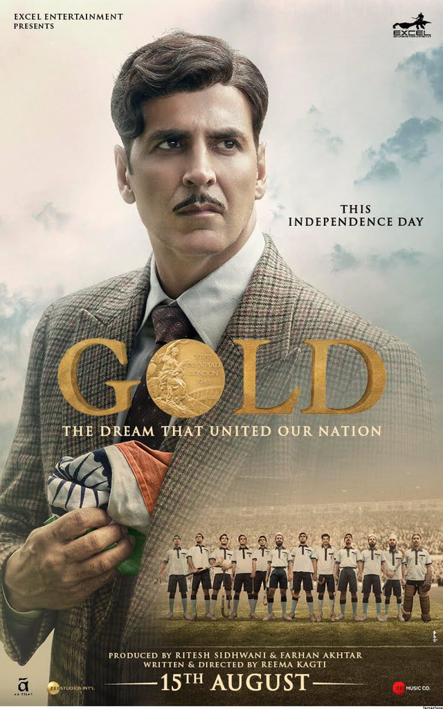 "Gold's new poster is out: Akshay to bring ""Gold"" on 15th August"