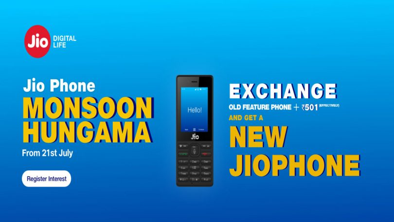 Jio Monsoon Offer 2018: Buy Latest Reliance 4G smartphone at Rs 501