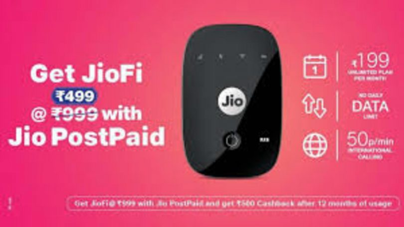 Jio Postpaid offer on JioFi Device, Get 50% discount on Hotspot device