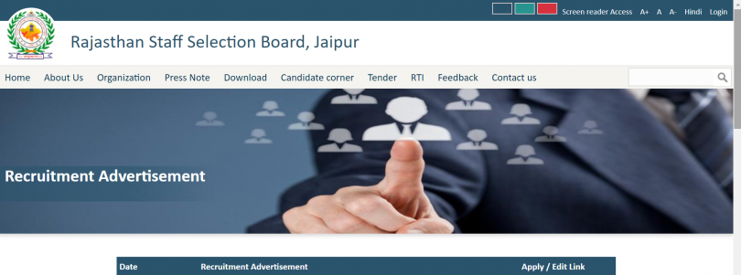 Rajasthan RSMSSB STENO 1085 online application date, check at  rsmssb.rajasthan.gov.in
