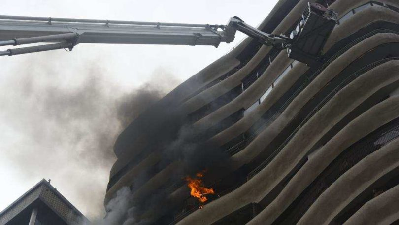 Level 3 Fire breaks out at Mumbai Parel Crystal Apartment, rescued were sent to KEM hospital for Checkup