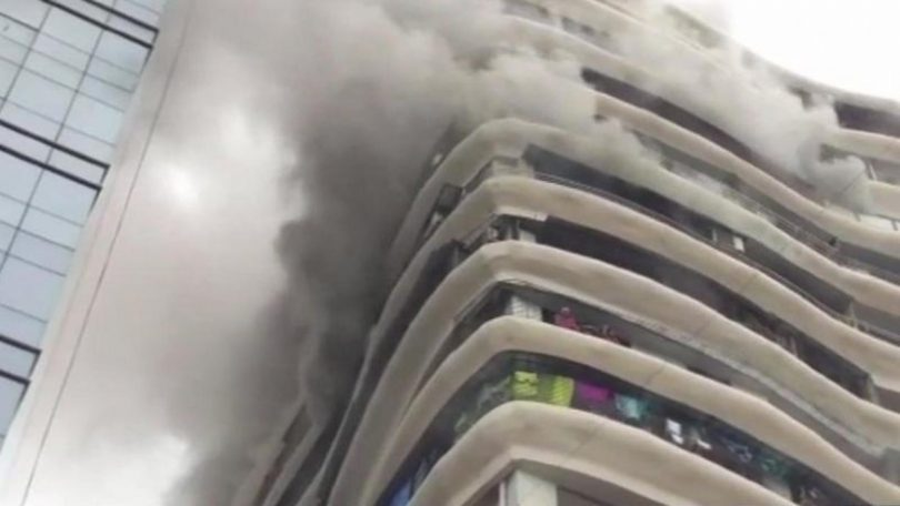 Fire breaks out at Parel Crystal Apartment, Residents in top floor rescued