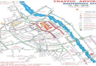 Independence Day 2018 Delhi road diversion and route restrictions