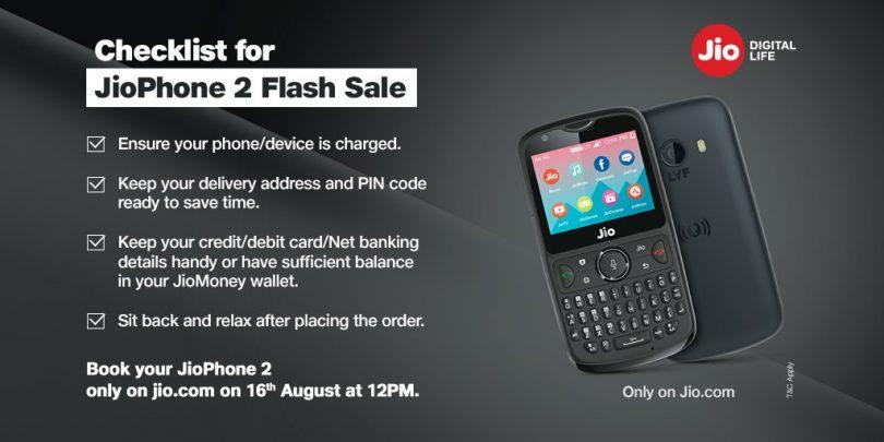 ea1724deb JioPhone2 Flash sale