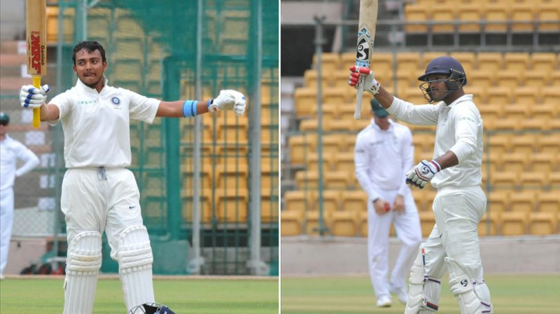 Prithvi Shaw vs Mayank Agarwal Record; Who is Better?