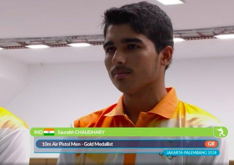 Sensational Saurabh Chaudhary bags Gold, Abhishek win Bronze Medal