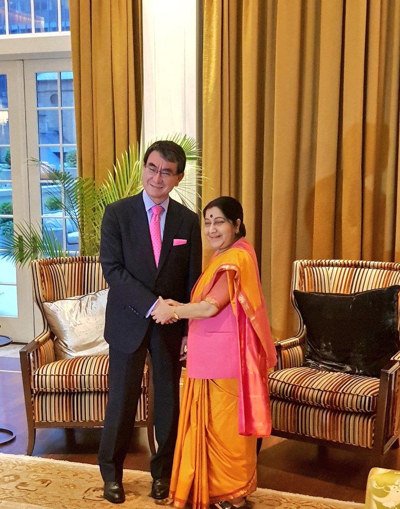 Sushma swaraj in UNGA 73rd Edition Live Updates; Sushma Swaraj expresses condolences for Indonesia earthquake