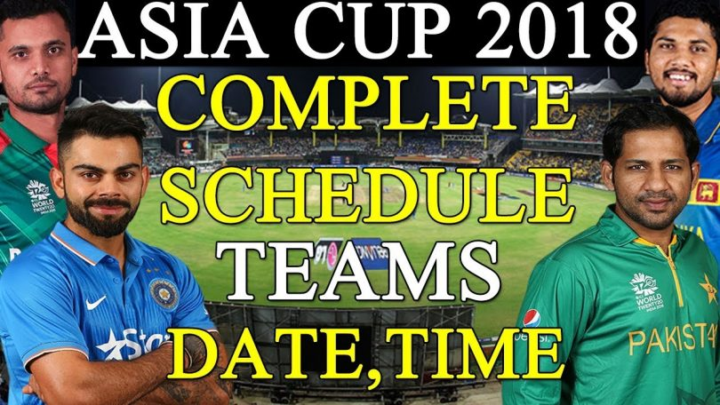Asia Cup 2018 Full Squad List, Online Streaming, and Timings