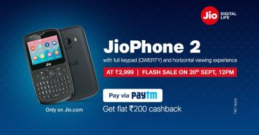 JioPhone2 Flash sale will start on September 27, Check Timings and Other Details here