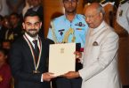 Virat Kohli and Mirabai Chanu awarded by Khel Ratna 2018